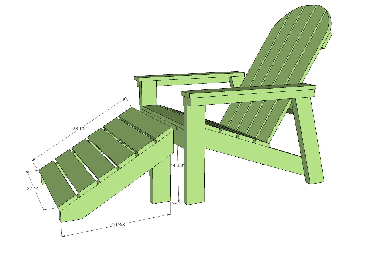 Home Depot Adirondack Footstool Adirondack Chairs Diy Adirondack Chair Plans Outdoor Furniture Plans