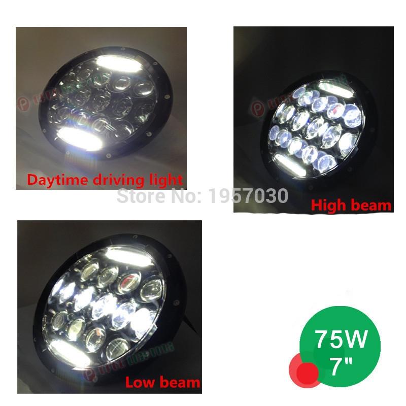 "53.80$  Buy now - http://alirp5.worldwells.pw/go.php?t=32681192632 - ""1piece 75w 7"""" Led  Wrangler Headlights,Wrangler Jk 7"""" Headlight,75w  Led Headlights"""