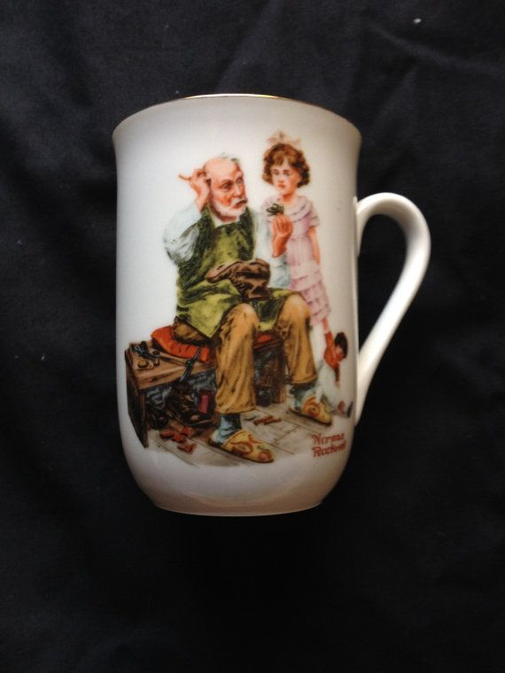 Norman Rockwell Cobbler Mug by NovemberE on Etsy