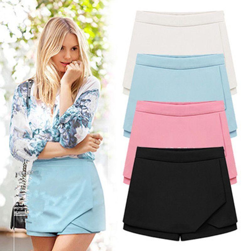 4 Colors Tiered Irregular Zipper Chiffon Shorts #chiffonshorts 4 Colors Tiered Irregular Zipper Chiffon Shorts #chiffonshorts