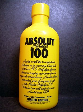 Absolut 100 Yellow Absolut Vodka Absolut Vodka Brands