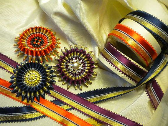 Pin By Lizzy Benchoff On Rosettes In 2020 Vintage Ribbon Ribbon Ribbon Embroidery