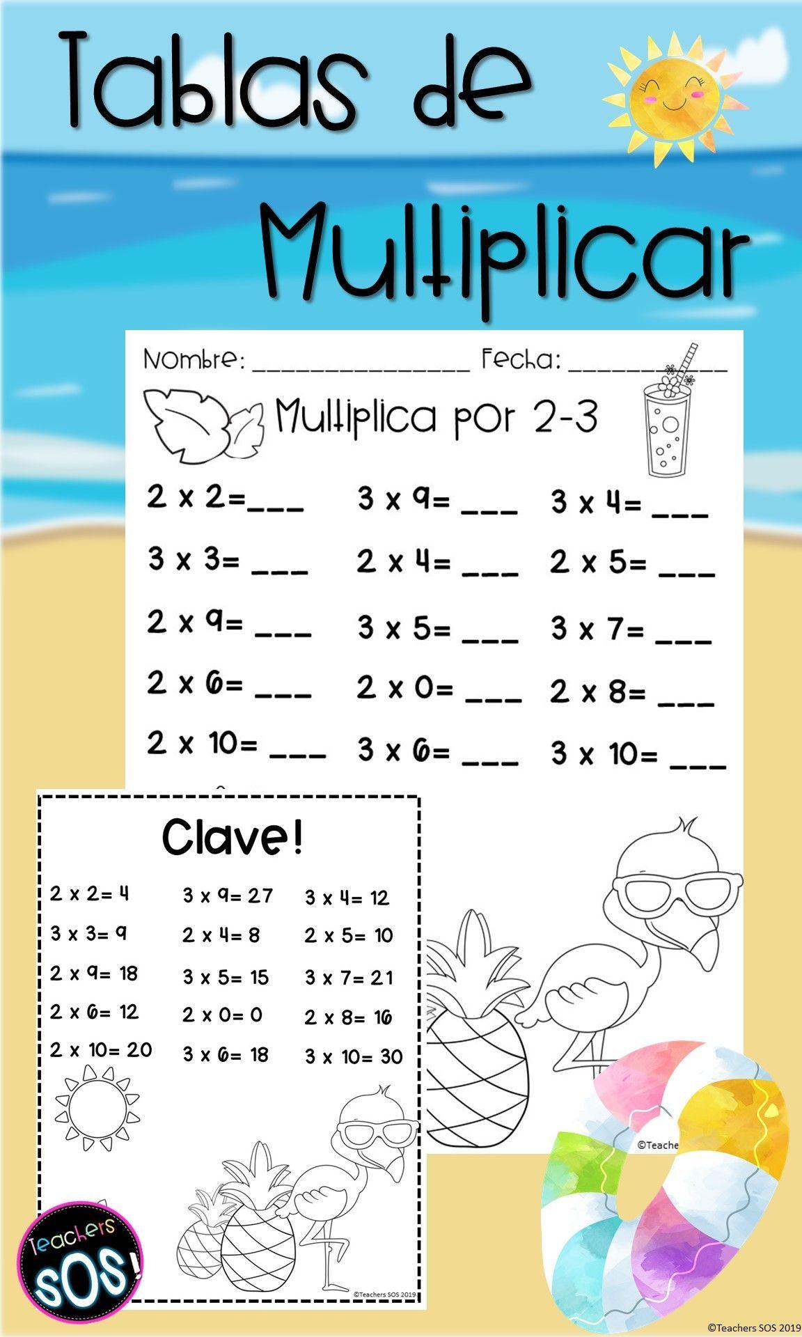 Aprendiendo Las Tablas De Multiplicar Utiliza Estas Hojas De Ejercicios De Practica Words Word Search Puzzle Teacherspayteachers
