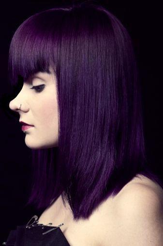 Purple Violet Midnight Black Permanent Purple Hair Dye Violet Hair Colors Dyed Hair Purple