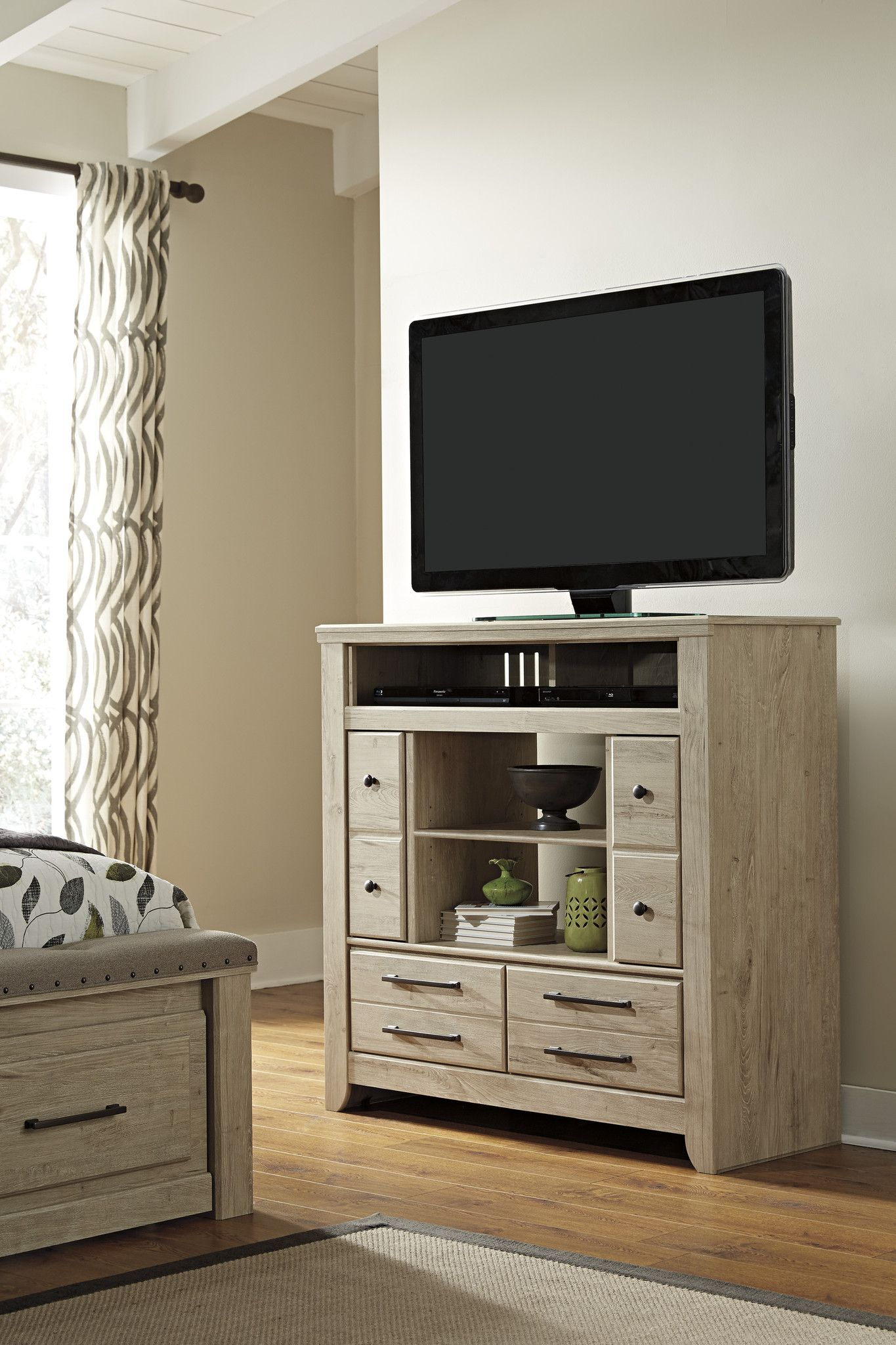 Ashley Furniture Annilynn Media Chest w/Fireplace Option B261-49 ...