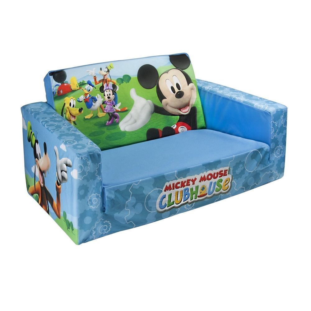 Marshmallow Flip Open Sofa Kids Couch Bed Disney Mickey Mouse Duck