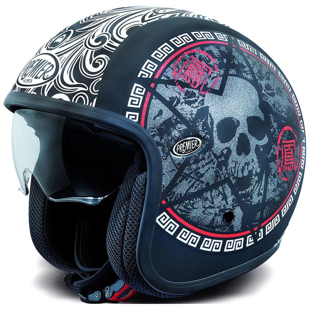 Premier Vintage Sk9 Jet Helmet Vintage Helmet Motorcycle Helmets Vintage Custom Helmet Design