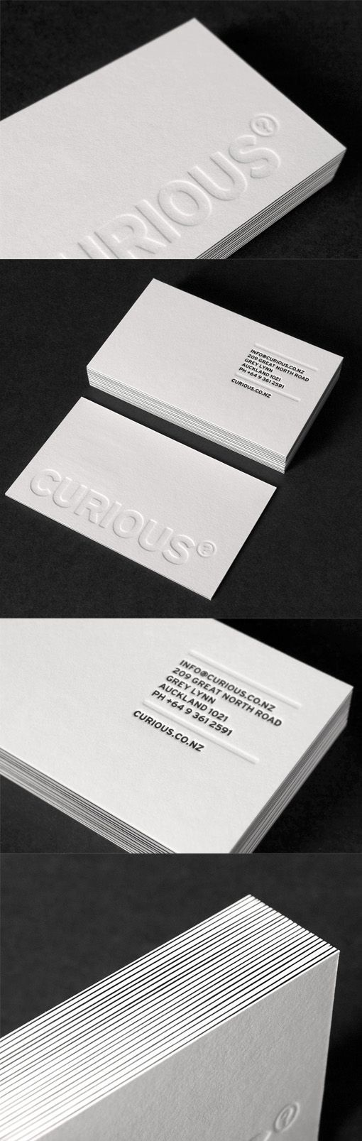 Deeply embossed white letterpress business card design graphic deeply embossed white letterpress business card design reheart Image collections