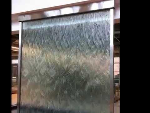 Custom Glass Water Wall Indoor Waterfall Amazing Indoor Water
