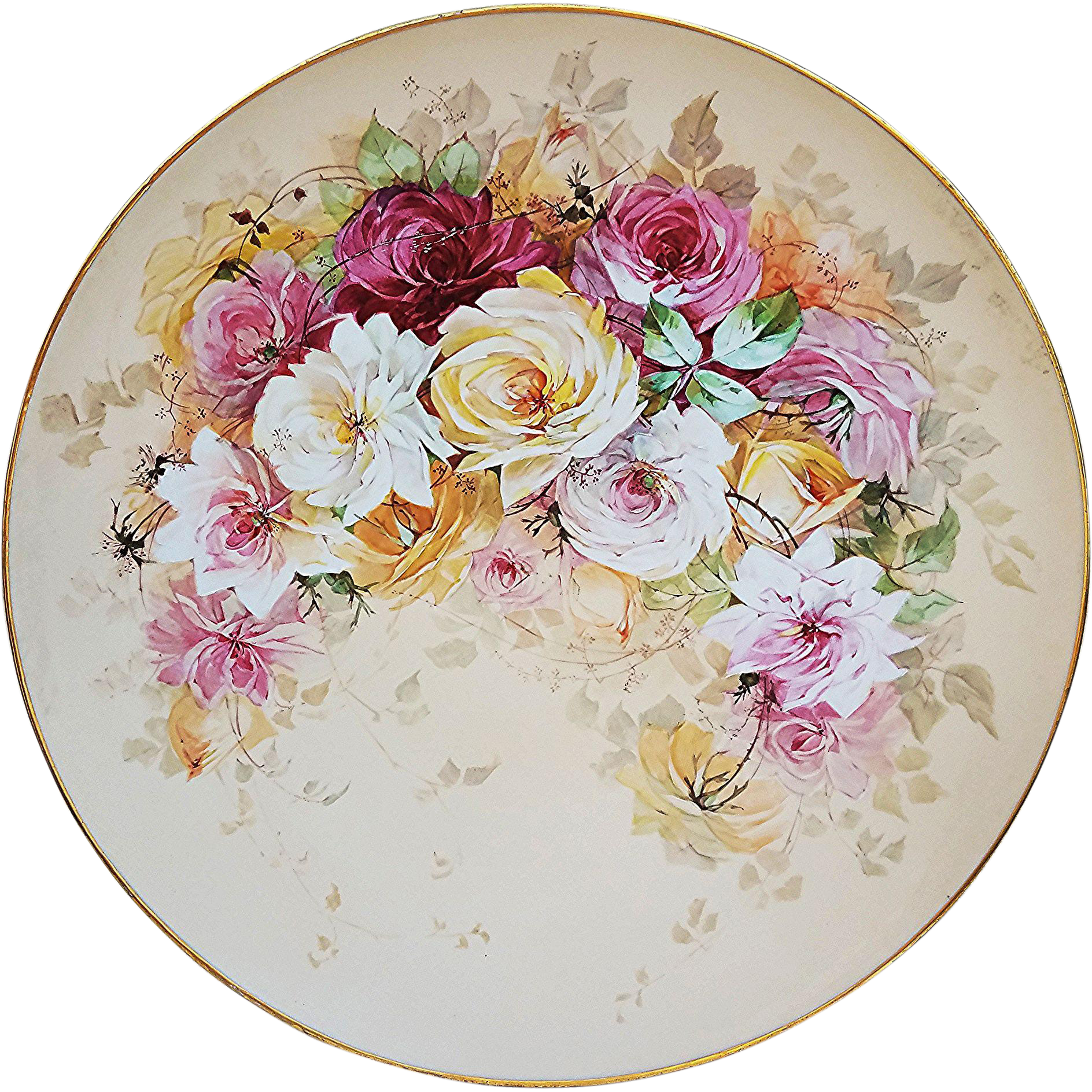 Gorgeous Vintage J.P.L. Limoges France 1900s Hand Painted