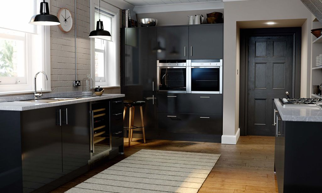 Black High Gloss Kitchen With Simple Handles  Kitchen  Pinterest Interesting Simple Interior Design Ideas For Kitchen Review