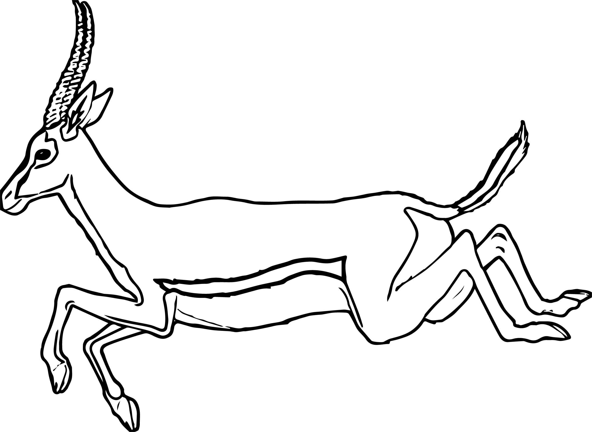 Awesome Leaping Antelope Coloring Page Coloring Pages Coloring