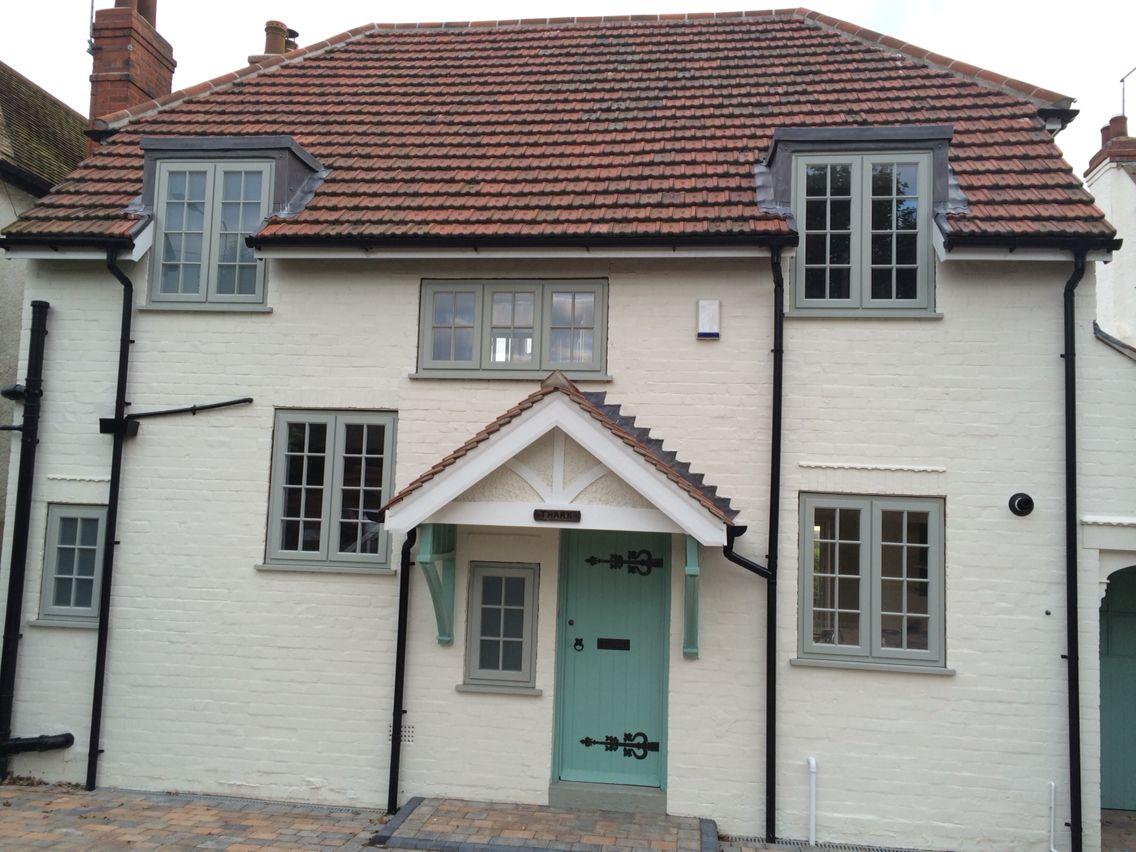 Finished storm2 windows sandtex paint chalk hill exterior Exterior masonry paint colours