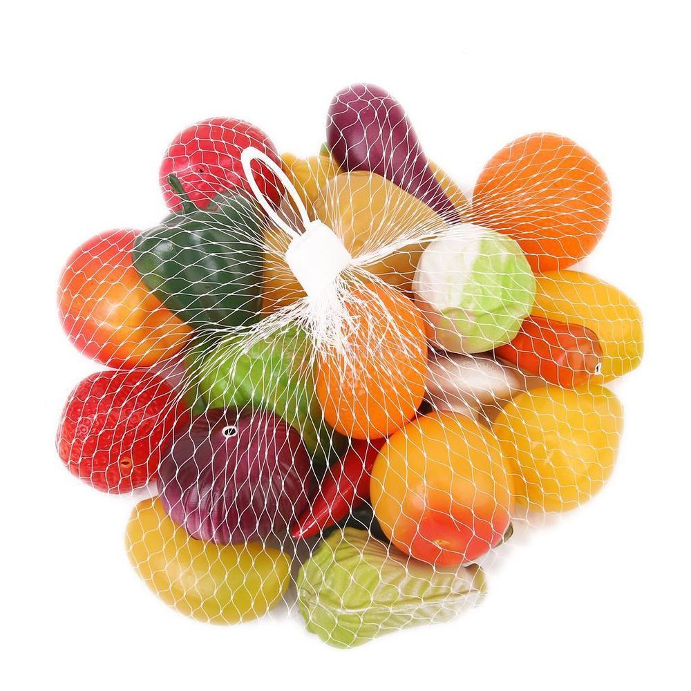 pack 25pcs plastic fruits and vegetables food pretend play kids