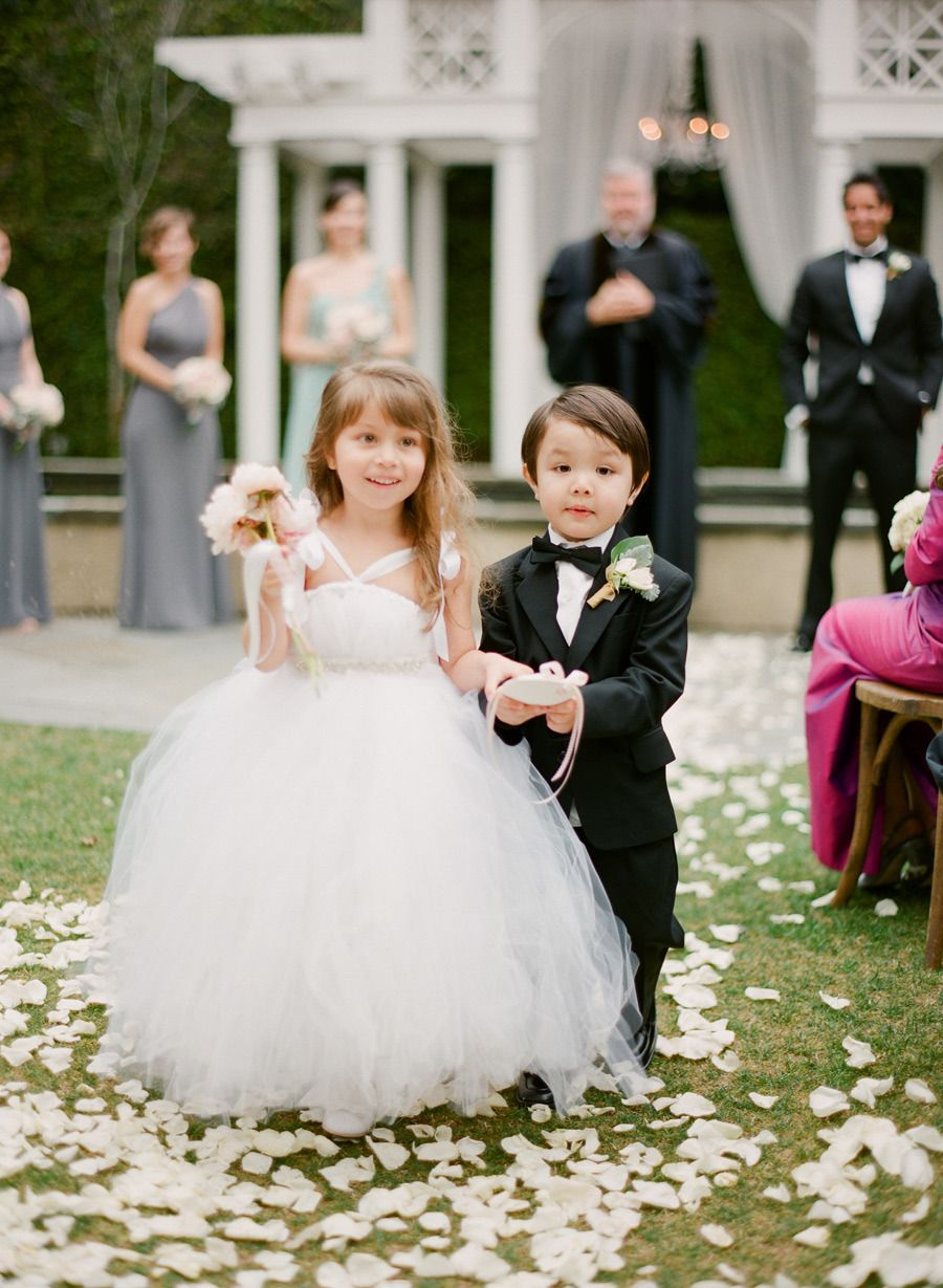 Poufy Tulle Flower Girl Dress | KT Merry Photography