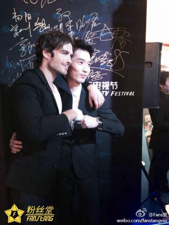 Pic with the interviewer. Shanghai 11/6/14