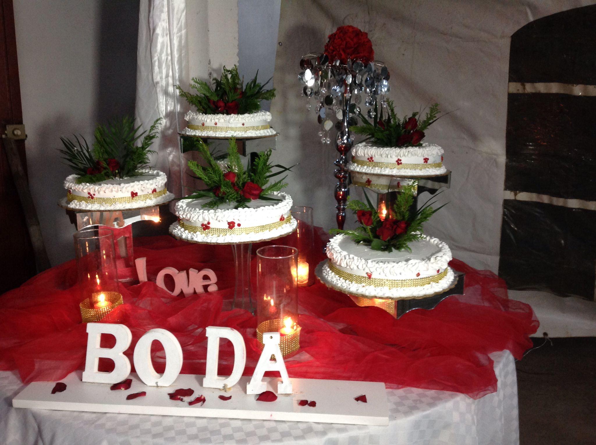 Pasteles De Boda Blanco /rojo