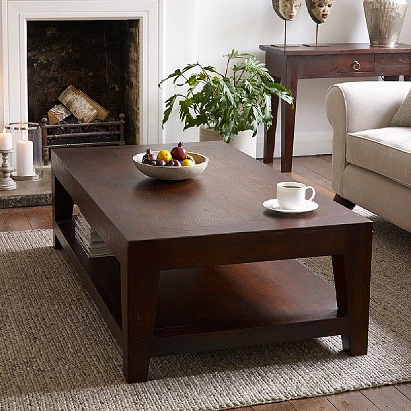 Living Room Translate To Indo: Seba Dark Brown Coffee Table