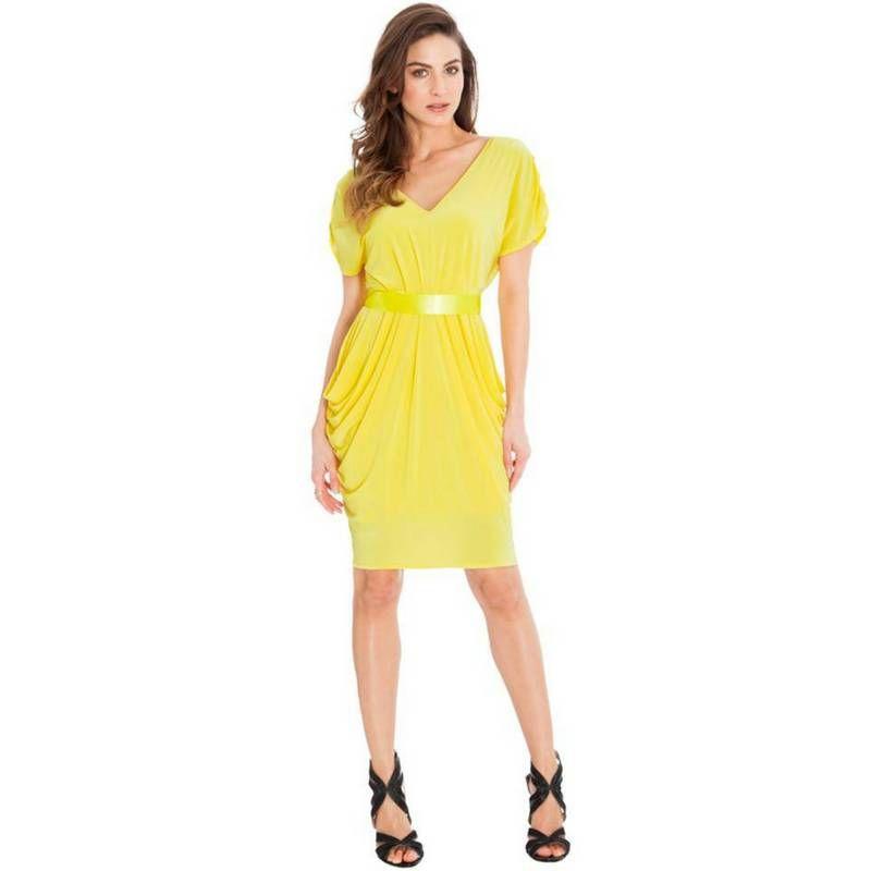 836d9044ee94 Estivo vestito corto giallo Goddiva Taglia unica s m https   www.