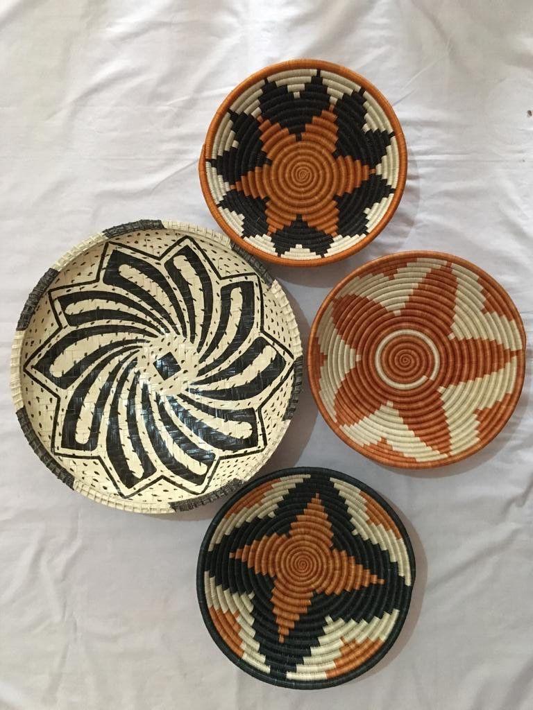 Ungo Baskets African Wall Basket Wall Decor Tribal Baskets Rwanda Baskets Gift For Her Wedding Gift Baskets On Wall Tribal Baskets Basket Wall Decor