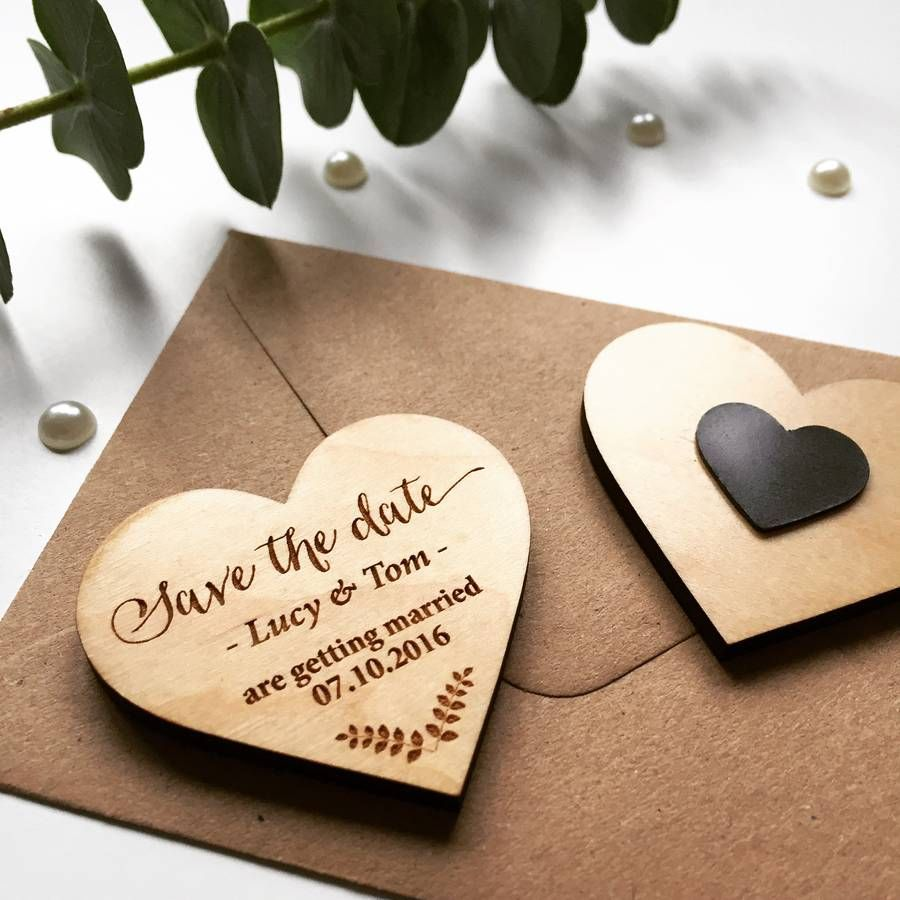 50  Calendar Save the Date Magnets - Laser cut and Etched on Wood ...