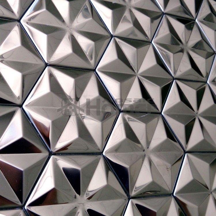 Self Adhensive Stainless Steel Metal Mosaic Tiles Wall Tiles Kitchen Backsplash Hme8011 Aliexpre Metal Mosaic Tiles Stainless Steel Tile Wall Stickers Tiles