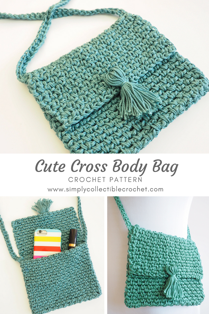 Cute Cross Body Bag Crochet Pattern Simply Collectible Patterns