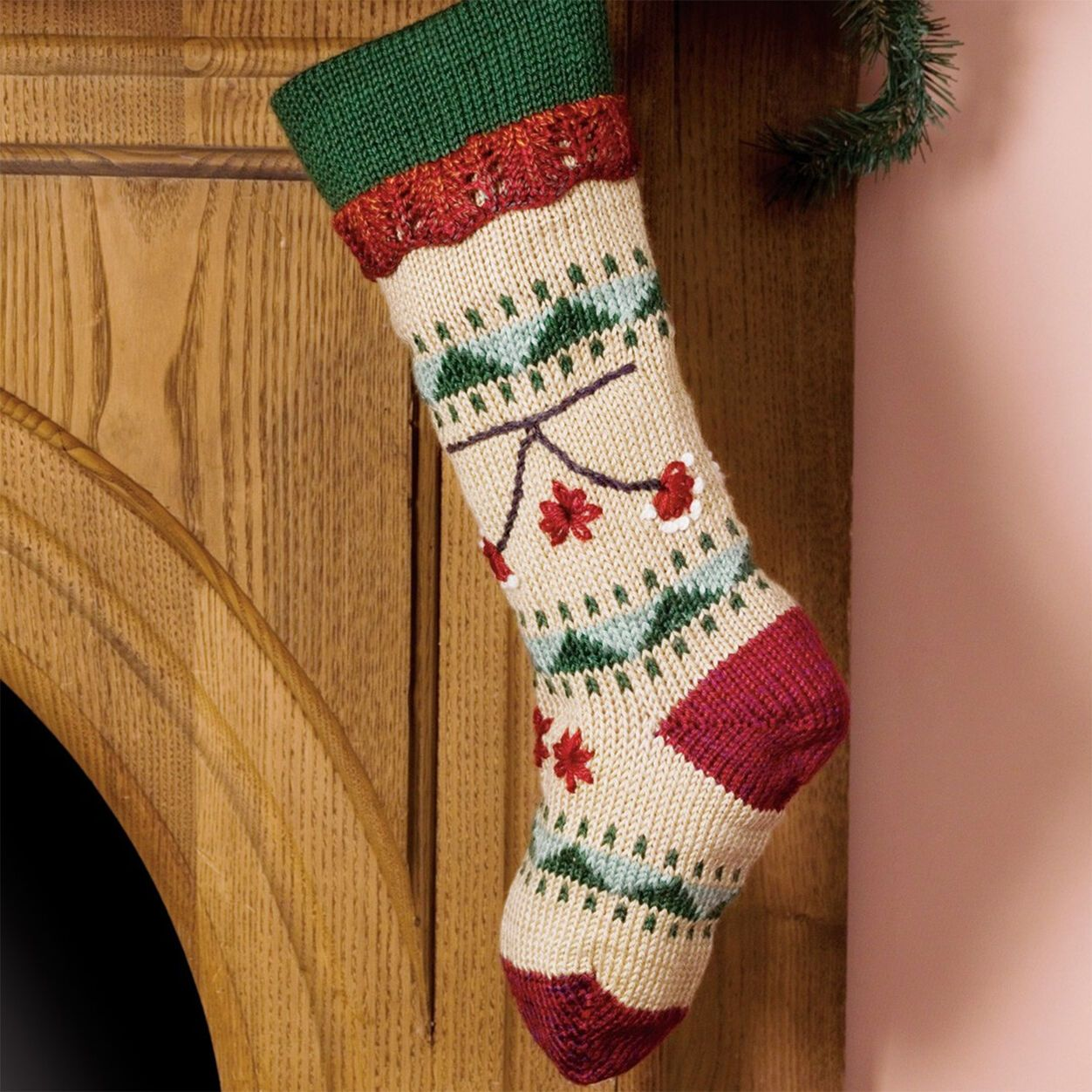 Caron Folkways Christmas Stocking   Yarnspirations ...