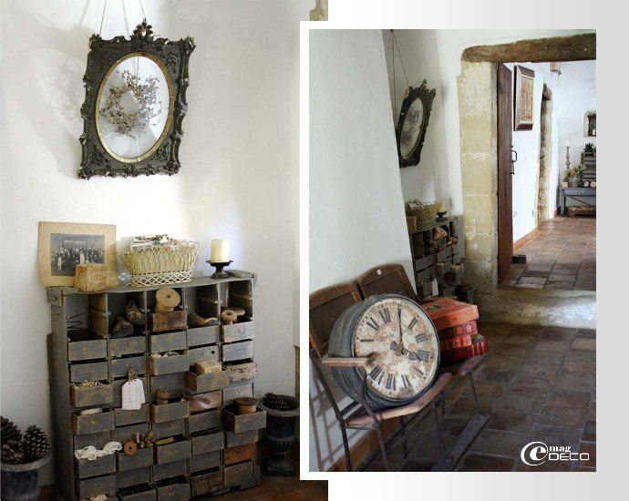 meuble d 39 atelier tiroirs et vieille horloge de gare d couvrir int rieur pinterest. Black Bedroom Furniture Sets. Home Design Ideas