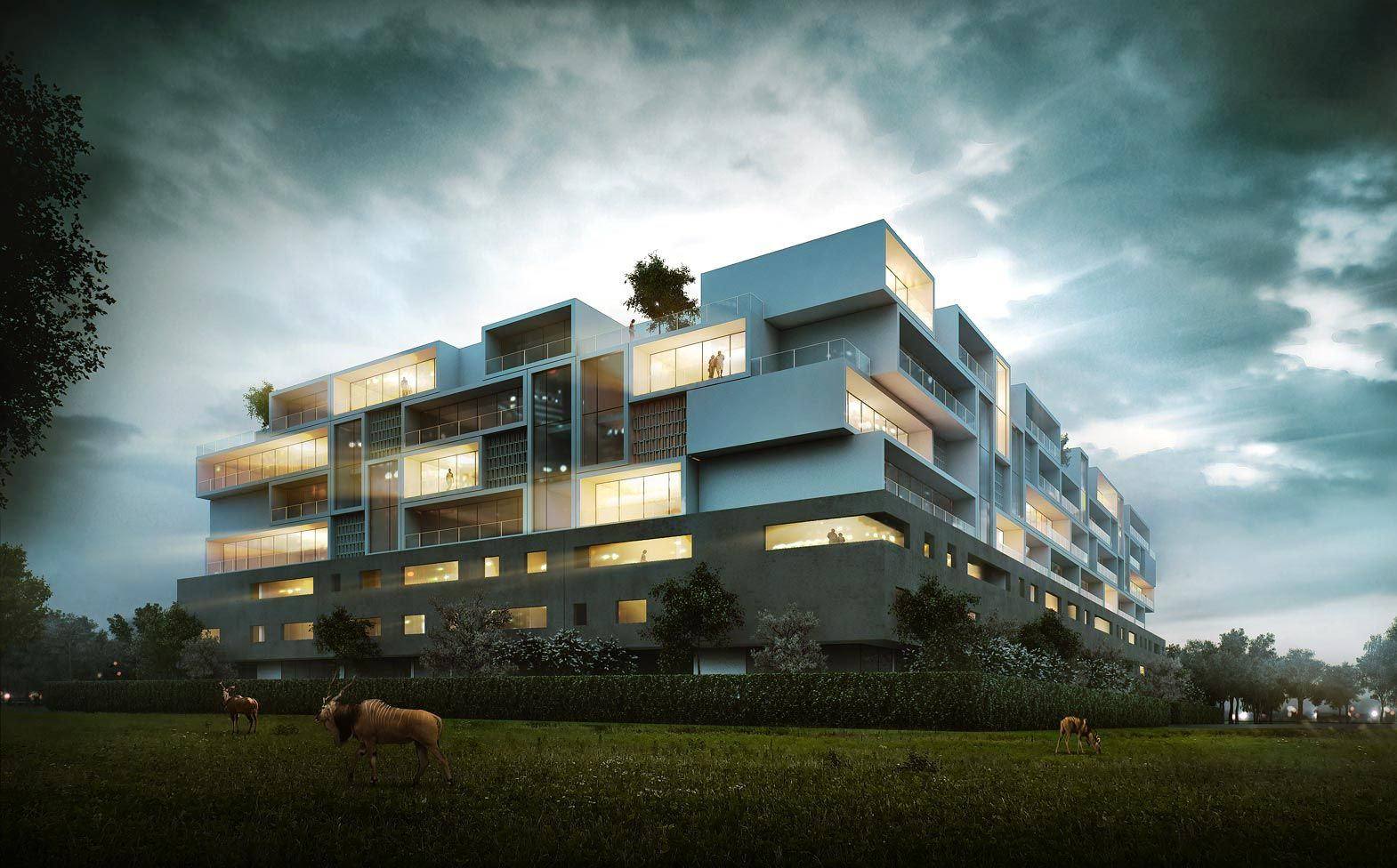 Sergio mereces nice 3d render project for the client Domaine architecture