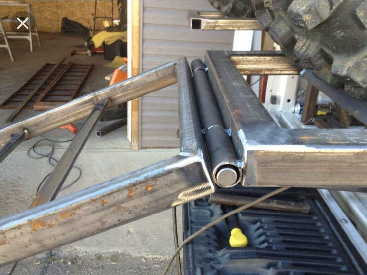 Tailgate hinge (With images) Trailer ramps, Utility
