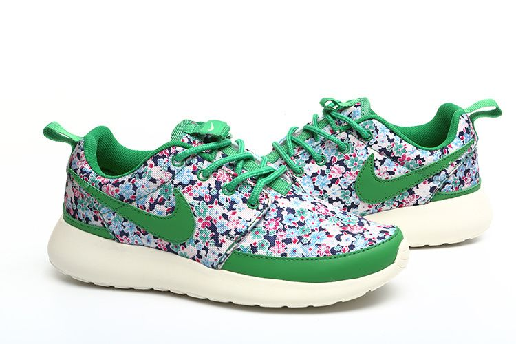 Nike Rose Run Liberty ID Womens Pequenas Flores Green