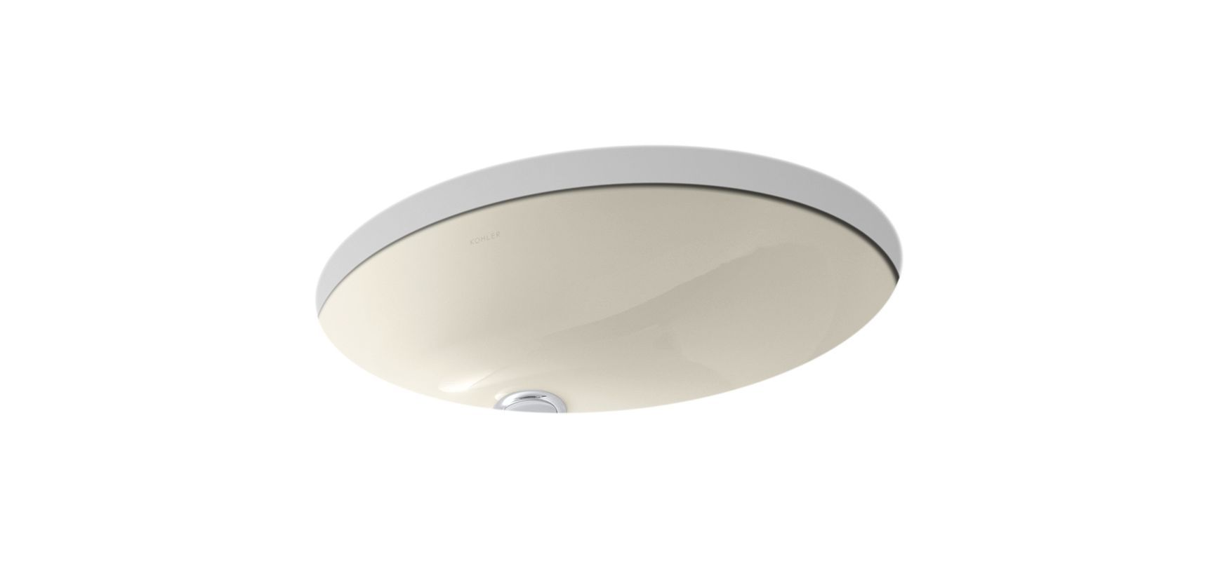 "Kohler K-2210 Caxton 17"" Undermount Bathroom Sink with Overflow Almond Fixture Lavatory Sink Vitreous China"