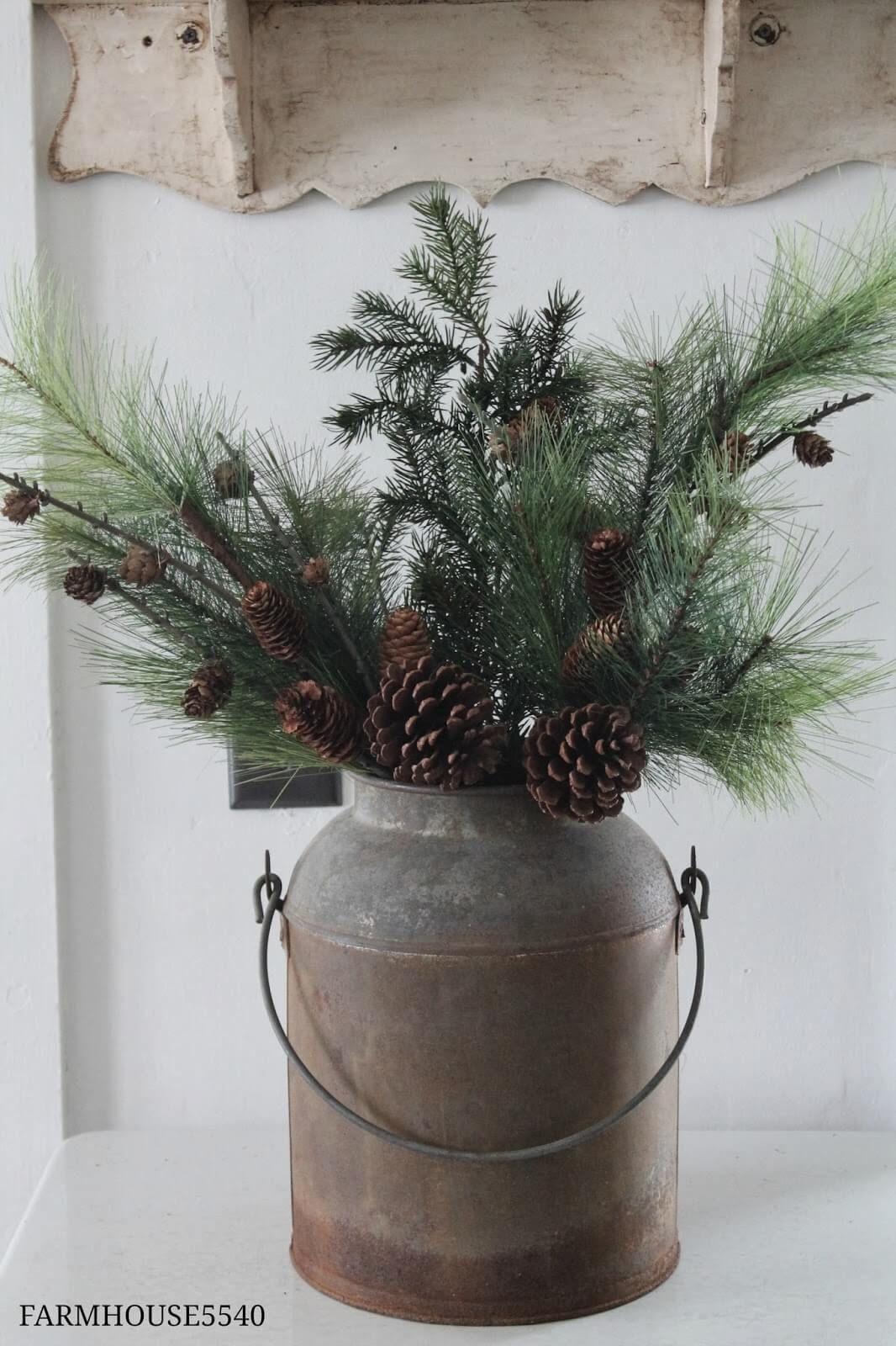 32 wundervolle rustikale Winterdekor-Ideen, die auch nach Weihnachten noch funktionieren #rustikaleweihnachten