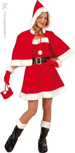 Femme Noël Santa Costume Noël Barbe Ceinture Tricot Pull Pull