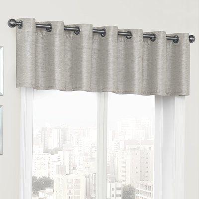 Laurel Foundry Modern Farmhouse Jeanne Blackout Grommet 52 Curtain Valance Color Gray Window Valance Valance Valance Curtains