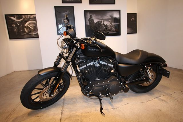 NEW HARLEY DAVIDSON IRON 883TM MODEL IS DRESSED FOR A DARK RIDE