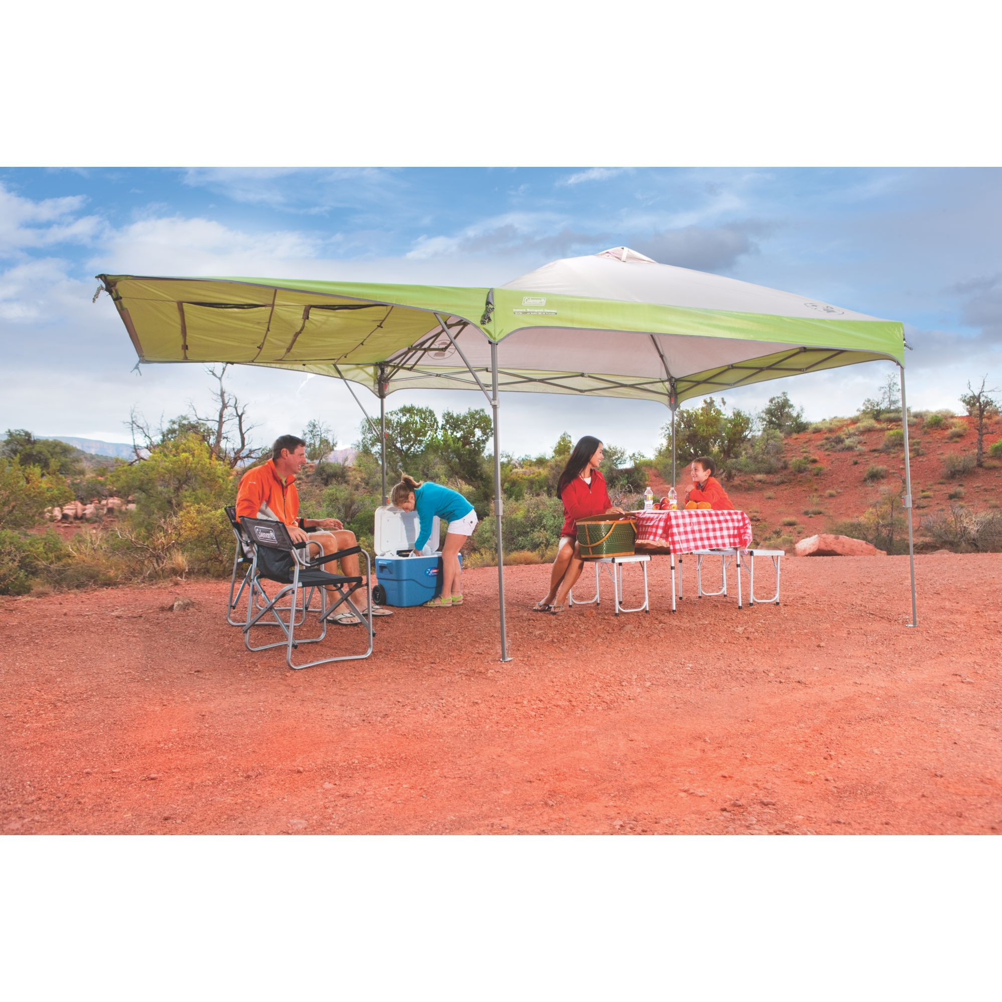Get To The Fun Faster With A Coleman Swingwall Instant Canopy It