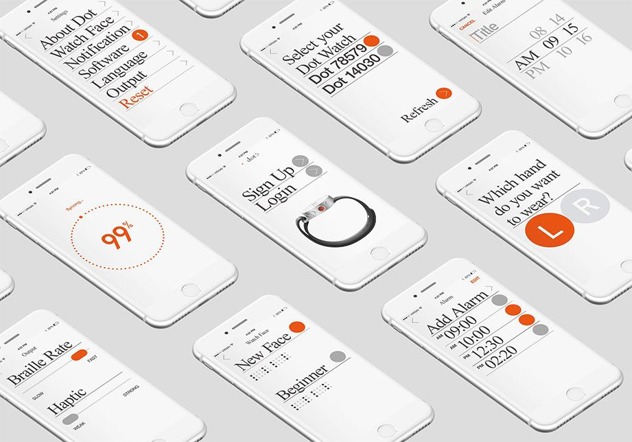 cloudandco Dot app, Inclusive design, App design