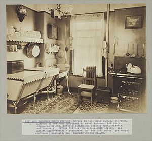 interior design kitchens kitchen of two room apartment in model tenement buildings 1903