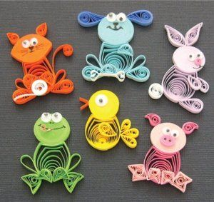 animal quilling earrings - Google Search