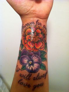 Tattoo On Pinterest Violets Pansies And Flower Tattoos