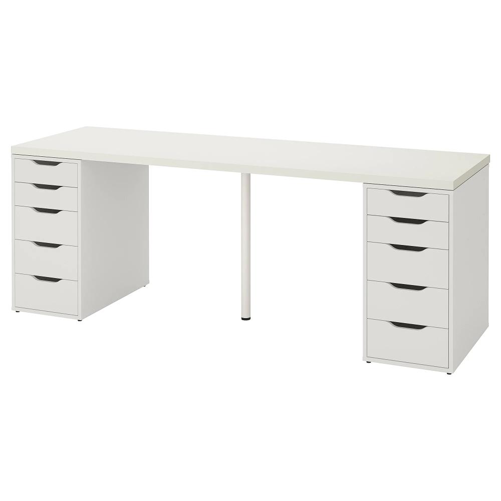 Linnmon Alex Table White 78 3 4x23 5 8 Ikea Ikea Linnmon Table Top Ikea Table