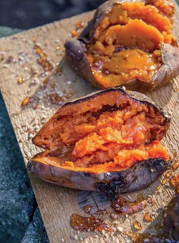 Smokin Good Sweet Potatoes With Bourbon Butter From Diva Q S