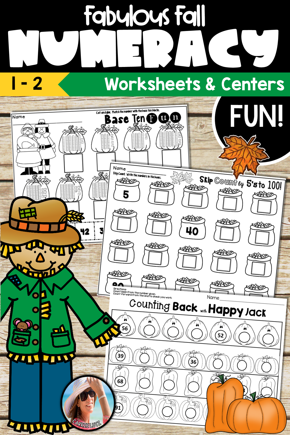 Fall Math Worksheets Numeracy To 99 With Images