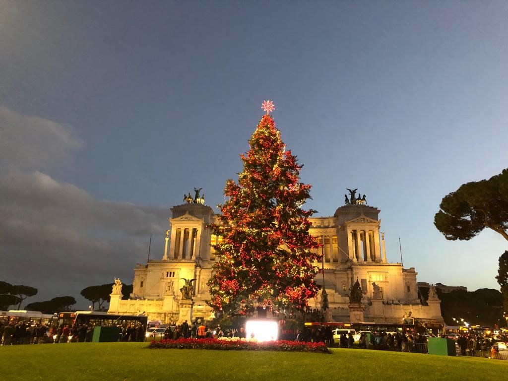 Christmas Trees In Italy Christmas In Rome Christmas In Italy Piazza Venezia Rome