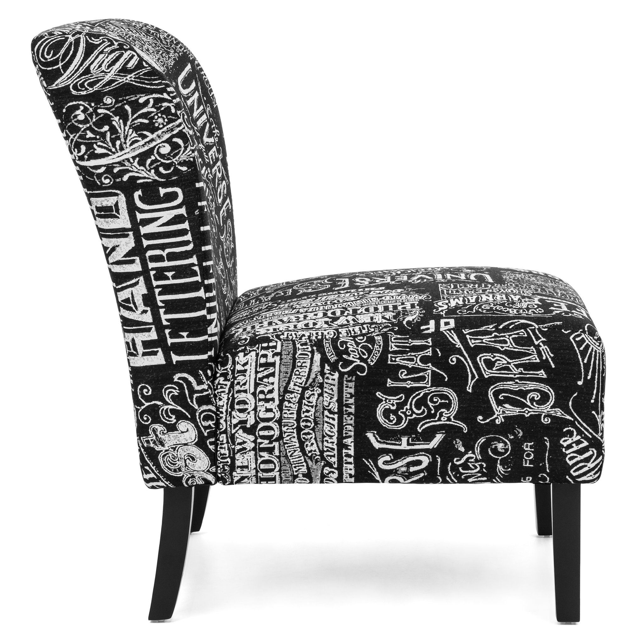 Modern Contemporary Upholstered Accent Chair Black White Best