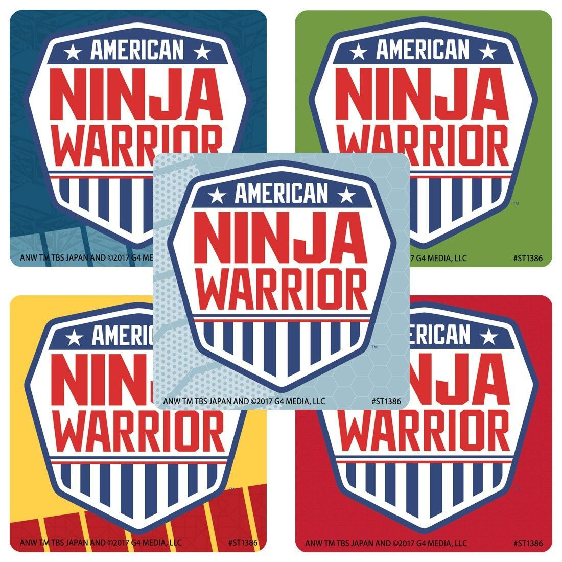 8fc739a127139e American Ninja Warrior Party Favor Stickers - 50 ct | American ninja ...