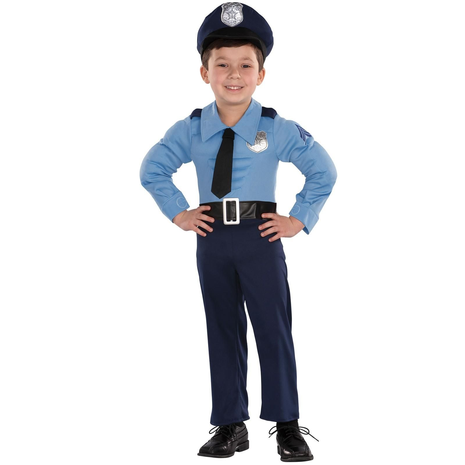 police officer toddler costume halloween toddler if you want your little one to serve up a heaping healthy meal of justice then all he needs is this toddler muscle chest police costume to get him started