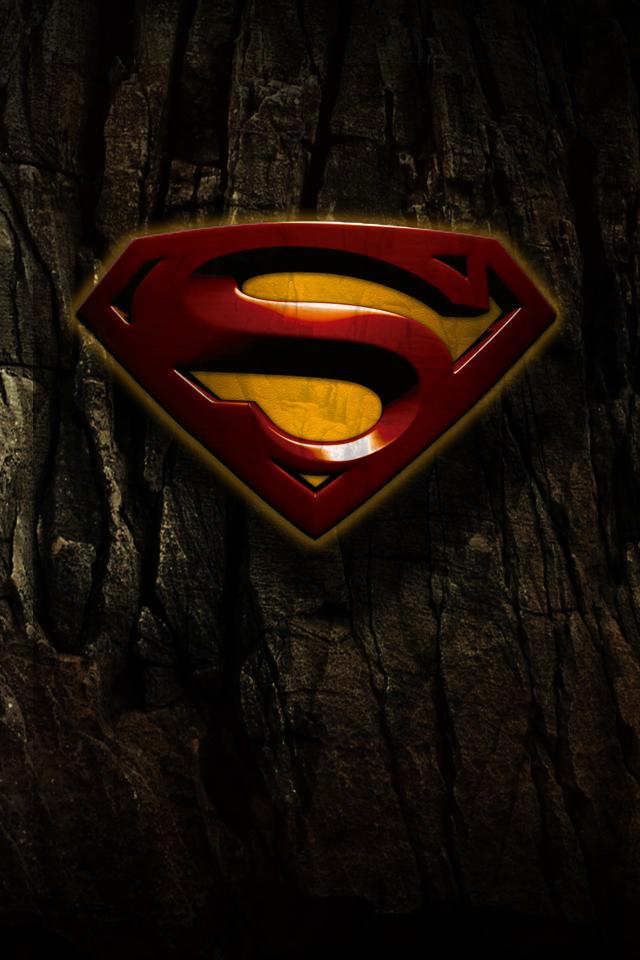 Grunge Superman Logo IPhone Wallpaper